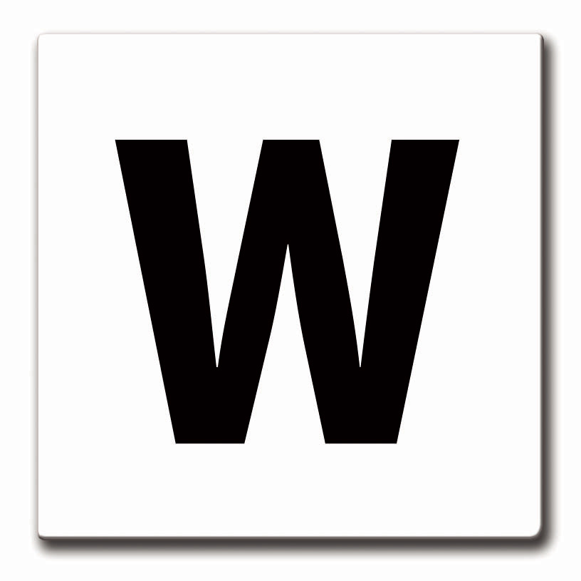 """W"" Whistle sign plate, 12"" x 12"""