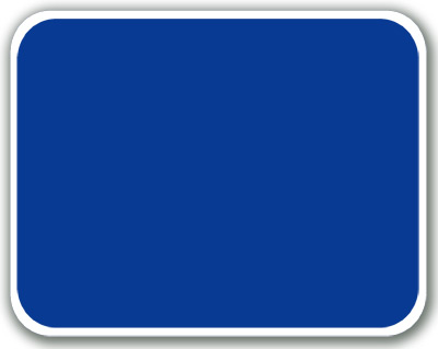 Blank Blue Sign Plate