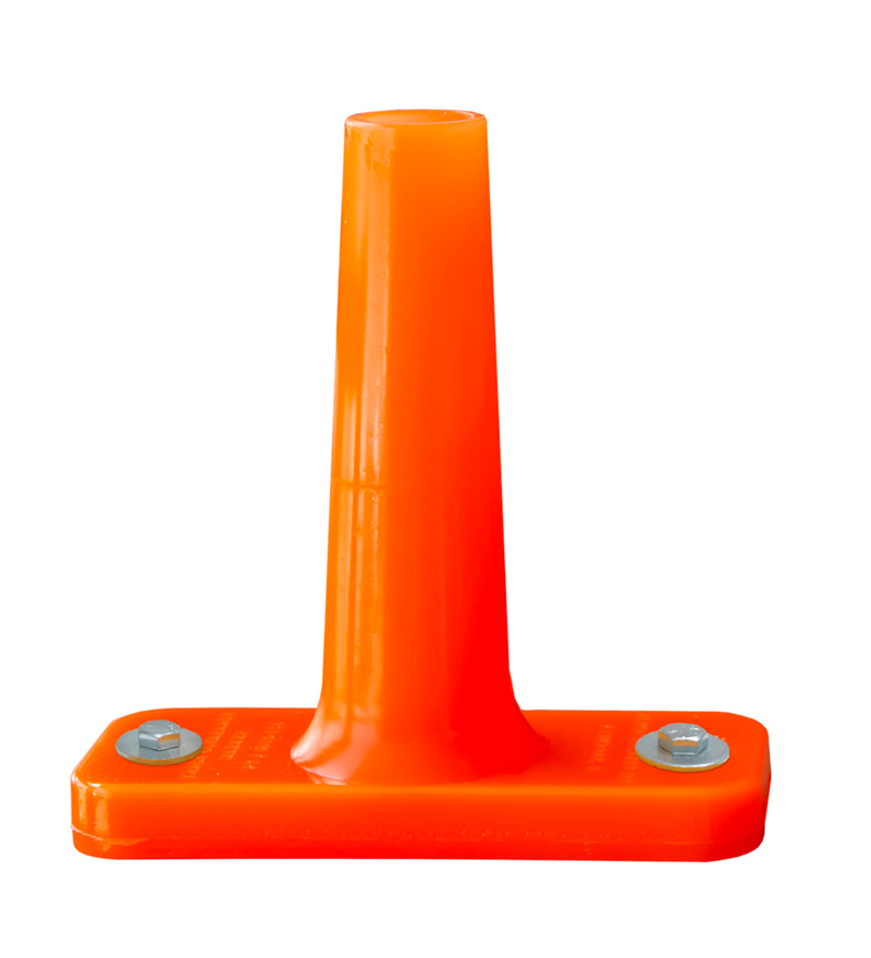 Track Clearance Marker - Flame Orange (exposed rail) - 4015-242