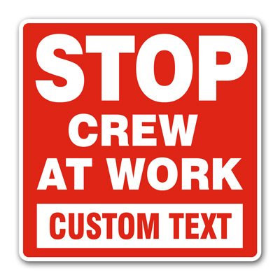 "Customized ""Crew At Work"" (Red)"