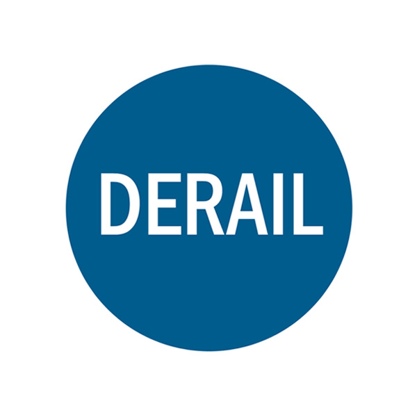 Replacement Derail Sign in Blue