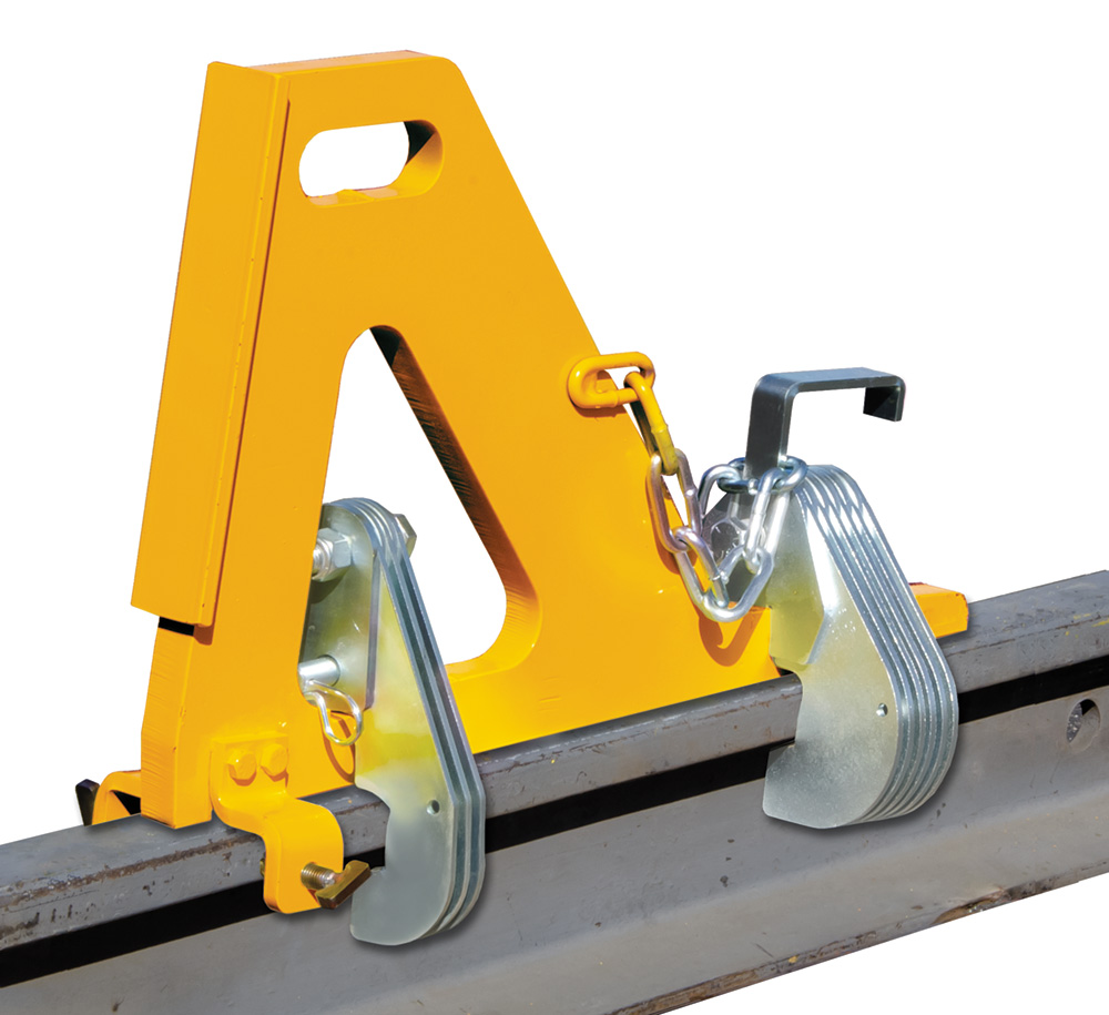 Aldon overhead crane stops for temporary stopping of crane bridges