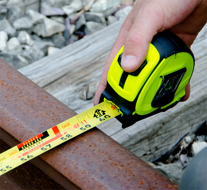 Track Inspector Tape Measure, 25 ft