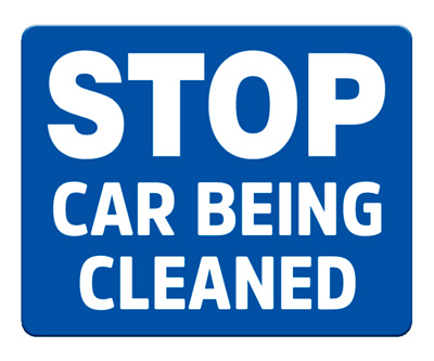 Stop - Car Being Cleaned (Blue)