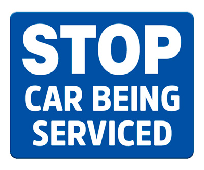 Stop - Car Being Serviced (Blue)