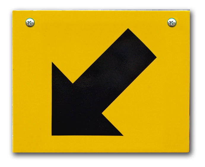 SC Replacement Plate - Yellow, Down, Left
