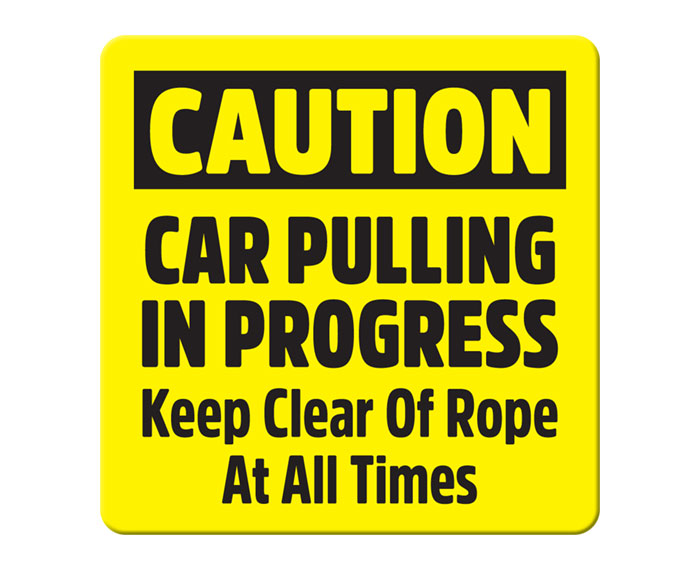 Car Pulling in Progress Sign