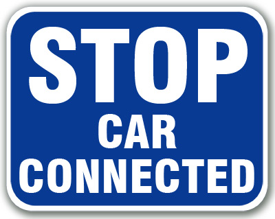 Aldon blue railroad sign flag, stop car connected