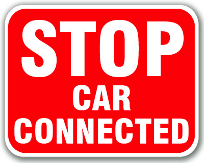 Stop - Car Connected (Red) Aldon railroad OSHA red sign Stop Car Connected sign