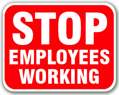 Stop - Employees Working (Red)