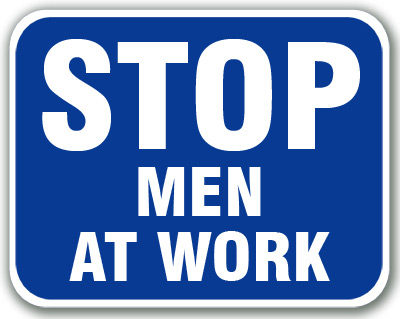 Stop - Men At Work (Blue)