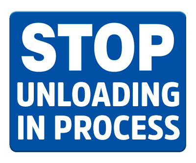 Stop Unloading in Process (Blue)