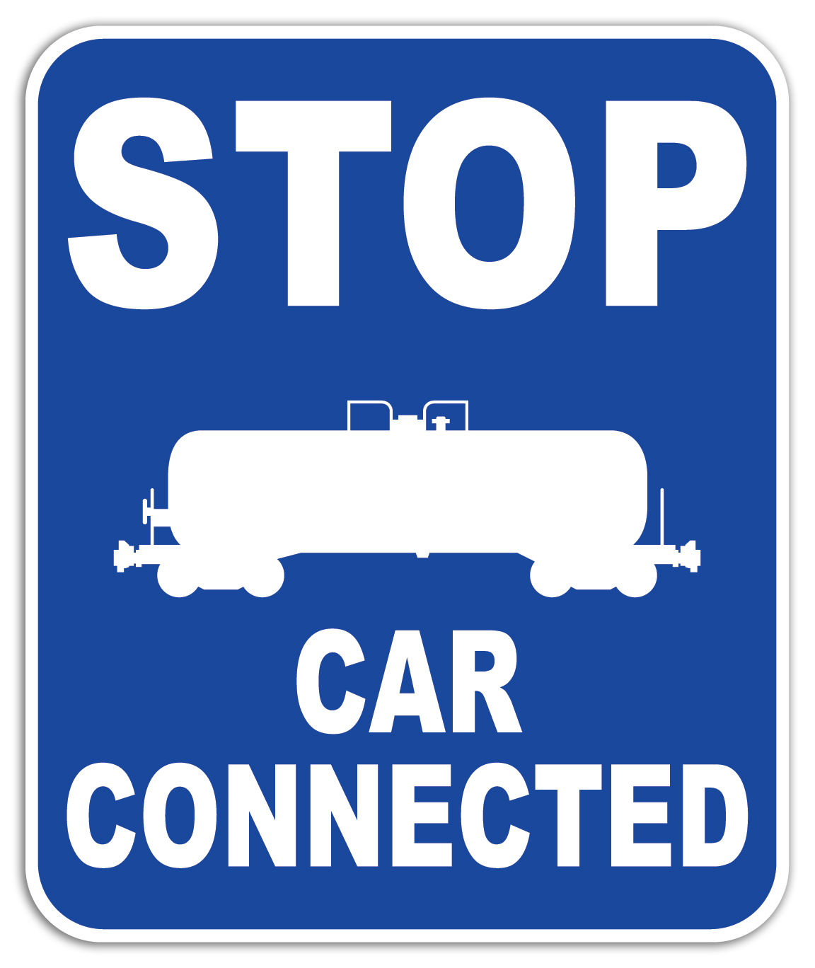 ENHANCED Stop Car Connected (Blue)