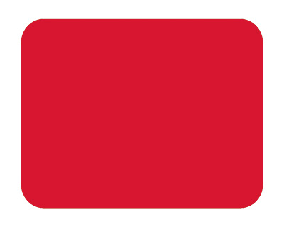 Blank Red Sign Plate