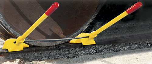 Transit Car Urethane Wheel Chock (Exposed Rail)