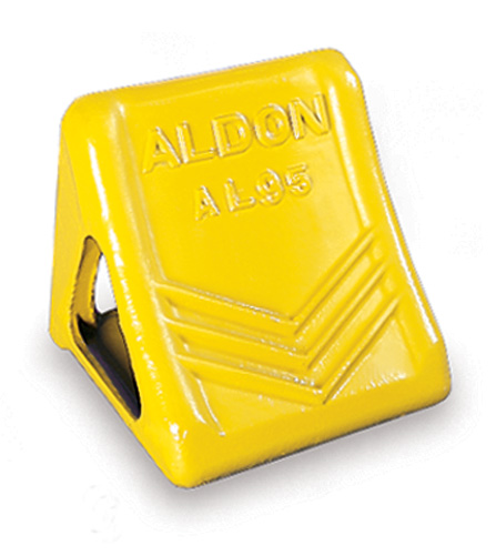 Aldon semi tractor trailer wheel chocks