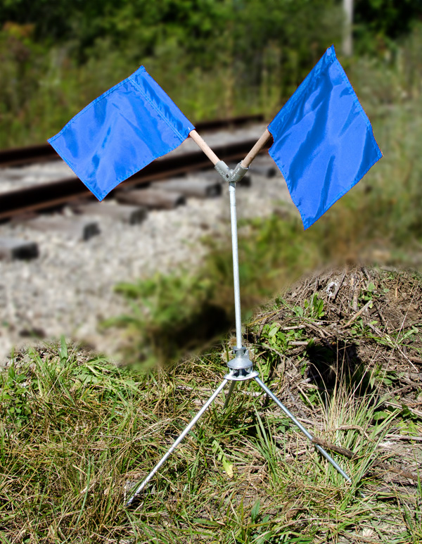 Aldon railroad OSHA tripod blue flag sign holder