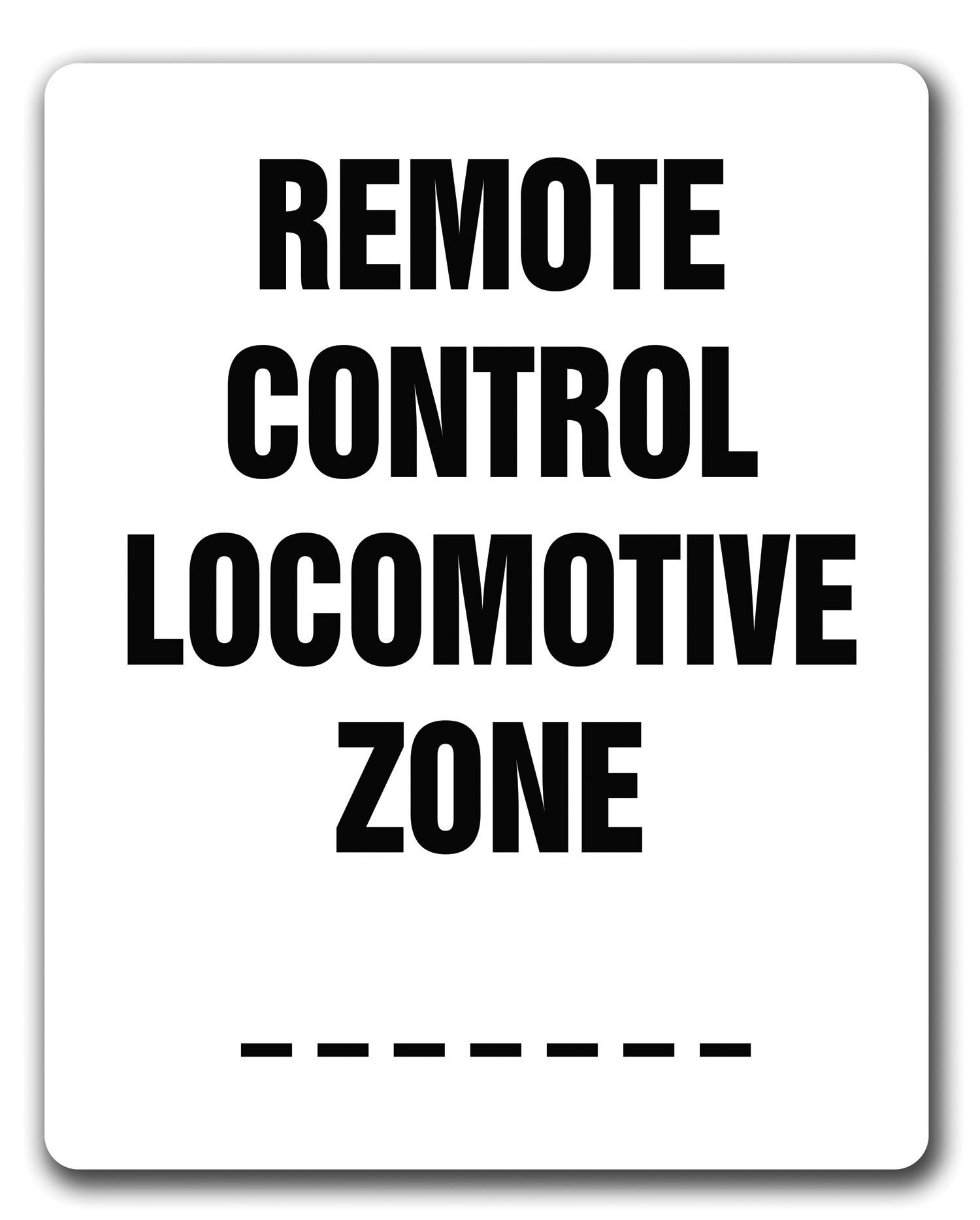 """Remote Control Locomotive Zone"""