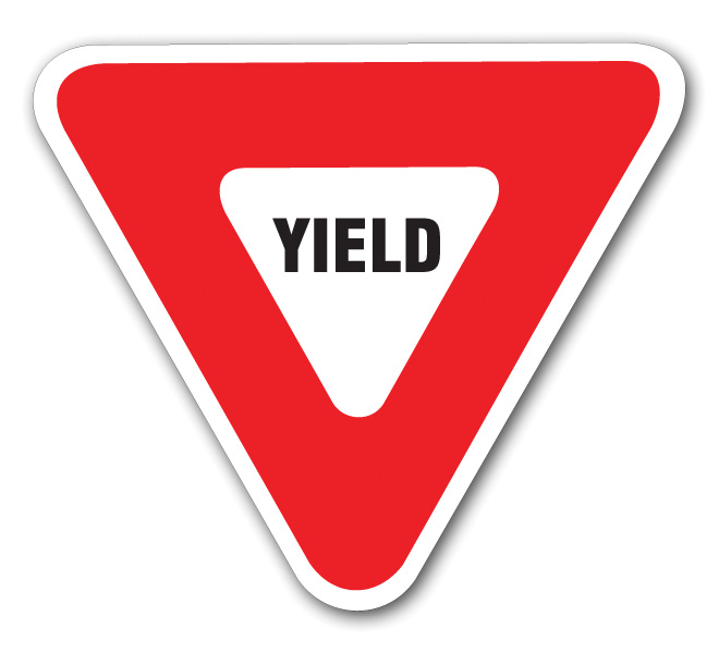 Aldon railroad traffic yield sign