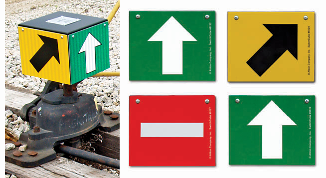 Aldon railroad switch cube turnout indicator target