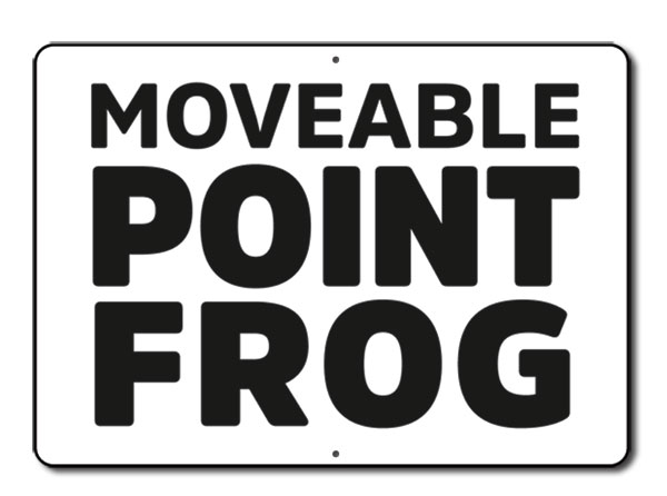 Aldon railroad reflective moveable point frog sign