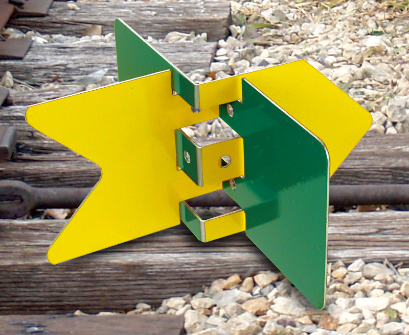 Racor Target - Yellow/Green raycor, targets, track indicator, switch targets