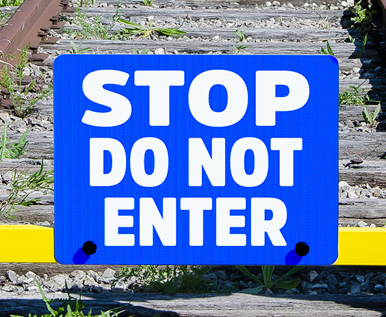 """STOP Do Not Enter"" Sign Plate - 4015-229"