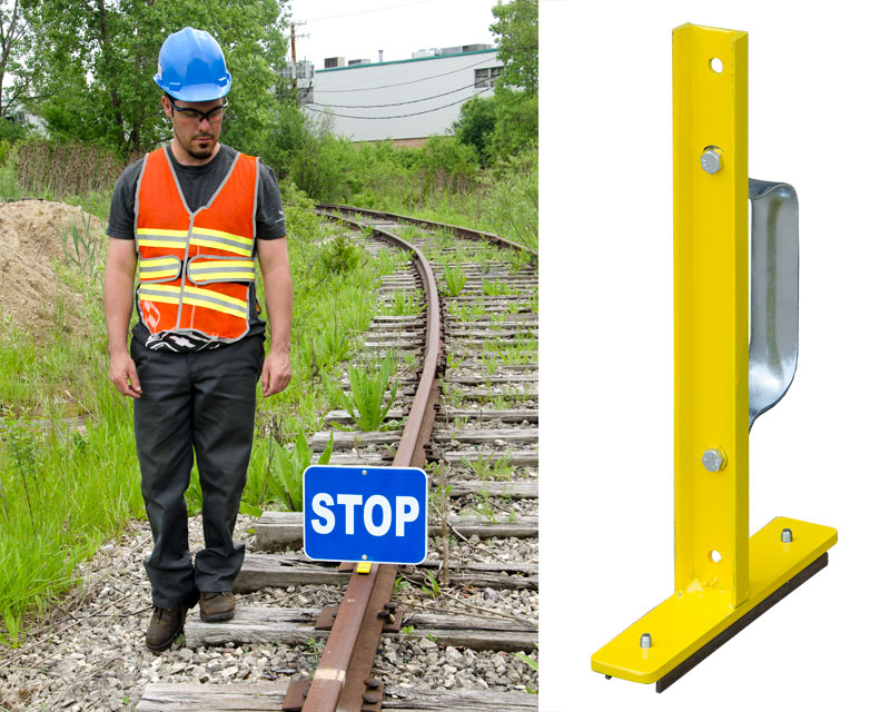 Magnetic Rail-Top Sign Holder (sign plate not included)