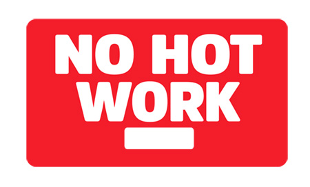 No Hot Work Magnetic Sign