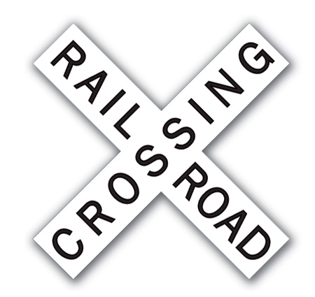 Aldon railroad crossing cross buck sign plate