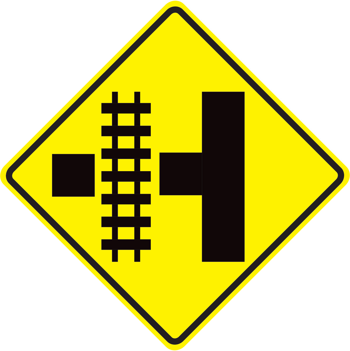 Aldon railroad crossing traffic intersection sign
