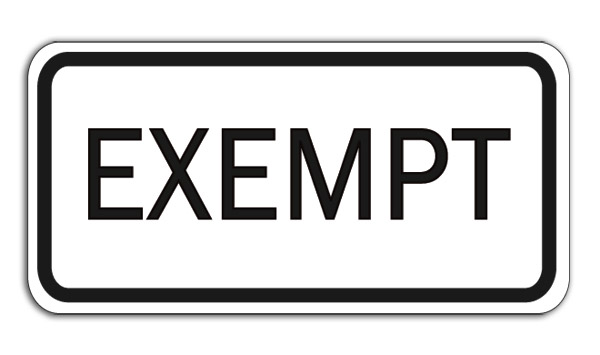 Aldon railroad exempt track sign