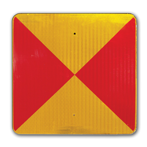 Aldon railroad reflective yellow and red conditional stop sign