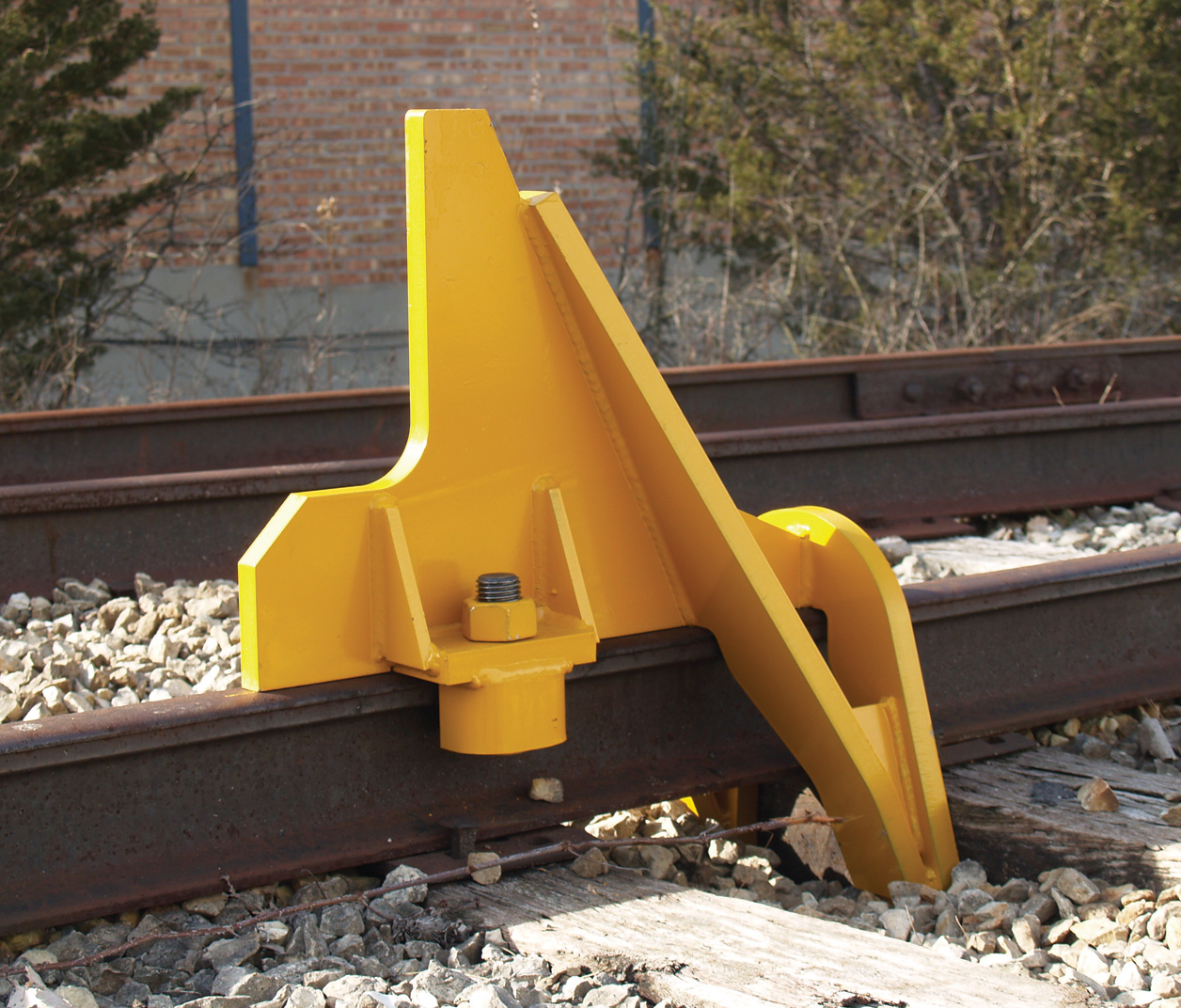 Aldon railroad cushioned car stop bumper