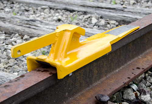 Aldon cast steel railroad skate