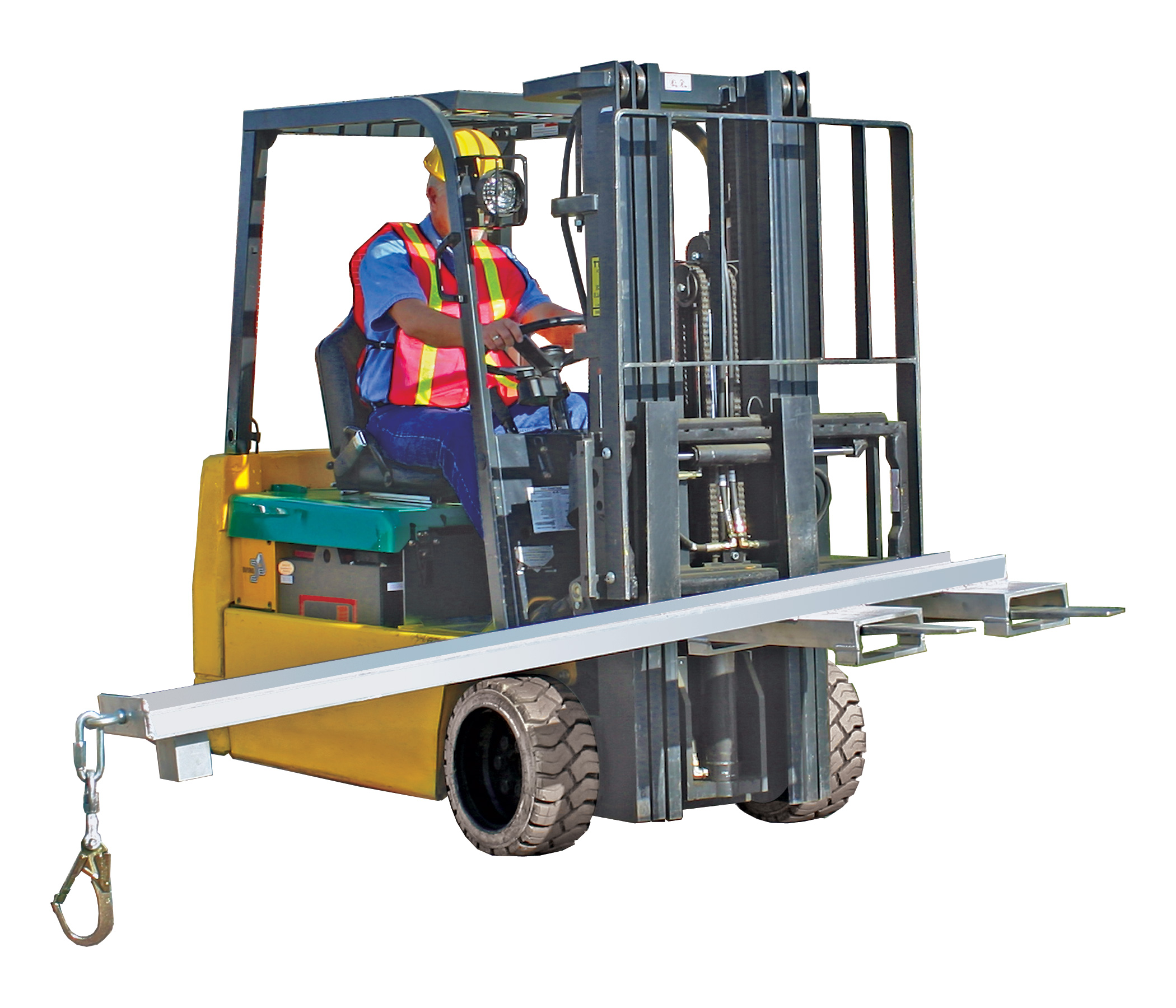 Aldon box car door opener forklift attachment for boxcars