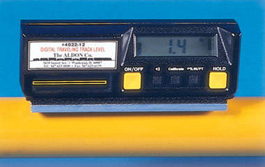 Aldon digital track inclinometer level for gauges and hi rail trucks