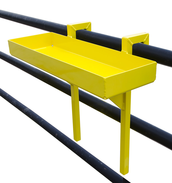 Aldon handrail tool and socket tray for railcar loading and unloading