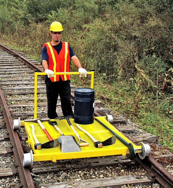 Aldon railroad MOW tool utility cart for rails