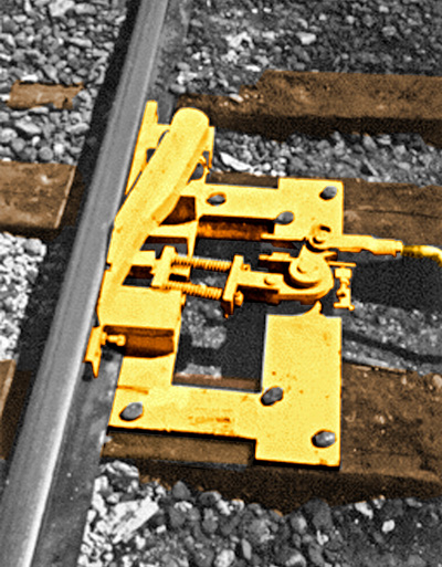 Wheel Shover I derail asst. for right throw retractable derails