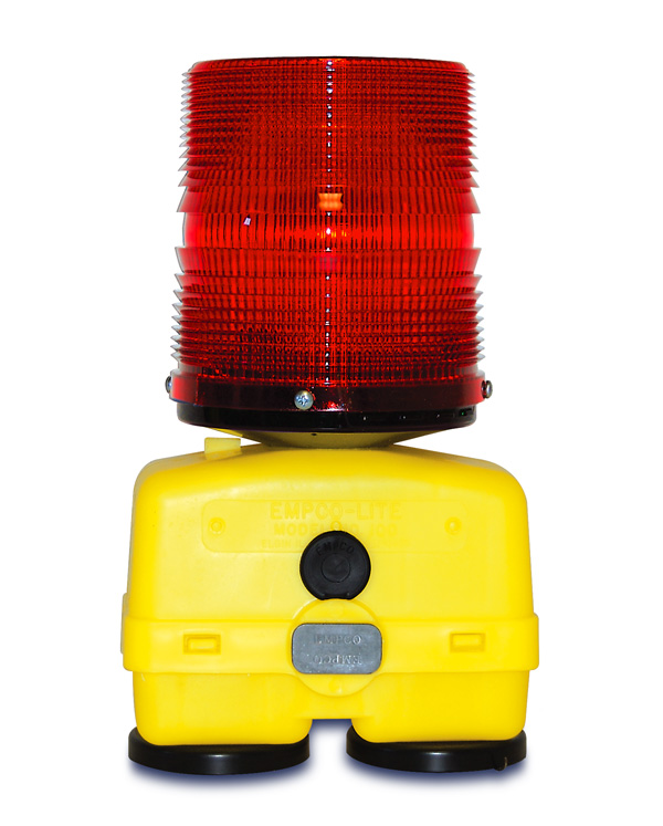 Aldon railroad magnetic base red flashing light