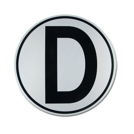 Aldon railroad reflective large derail D sign