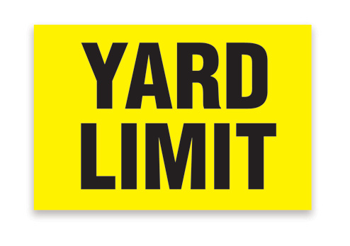 Aldon railroad yard limit sign