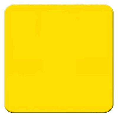 Aldon railroad reflective yellow sign plate