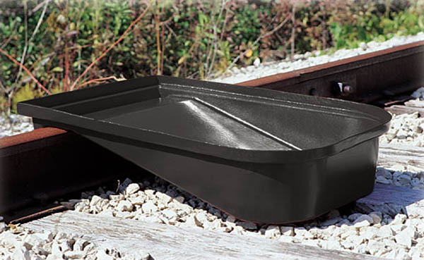 Aldon railcar spill comtainment drain pan for rail cars