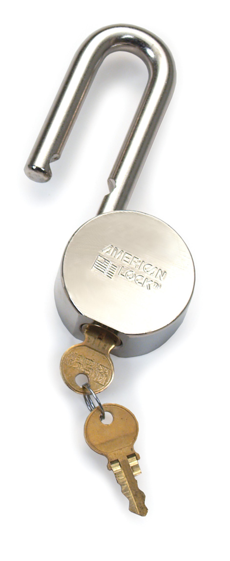 Aldon solid body chrome padlock for M.O.W. and general rail road