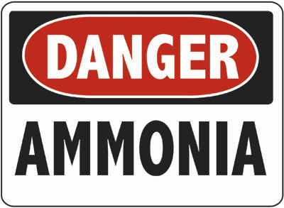 Danger - Ammonia Sign