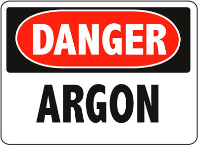 Danger - Argon Sign