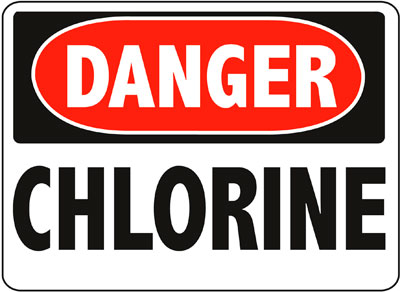 Danger - Chlorine Sign