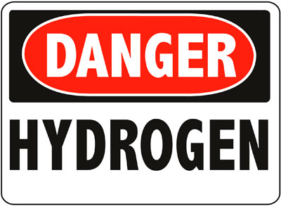 Danger - Hydrogen Sign